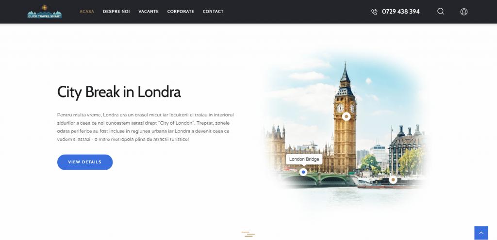 Click Travel Smart printscreen