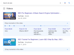 Google Rich Results - Video
